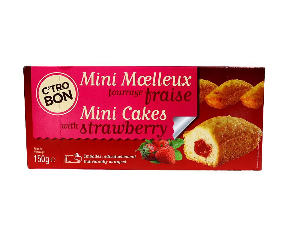 Mini moelleux fourrage fraise
