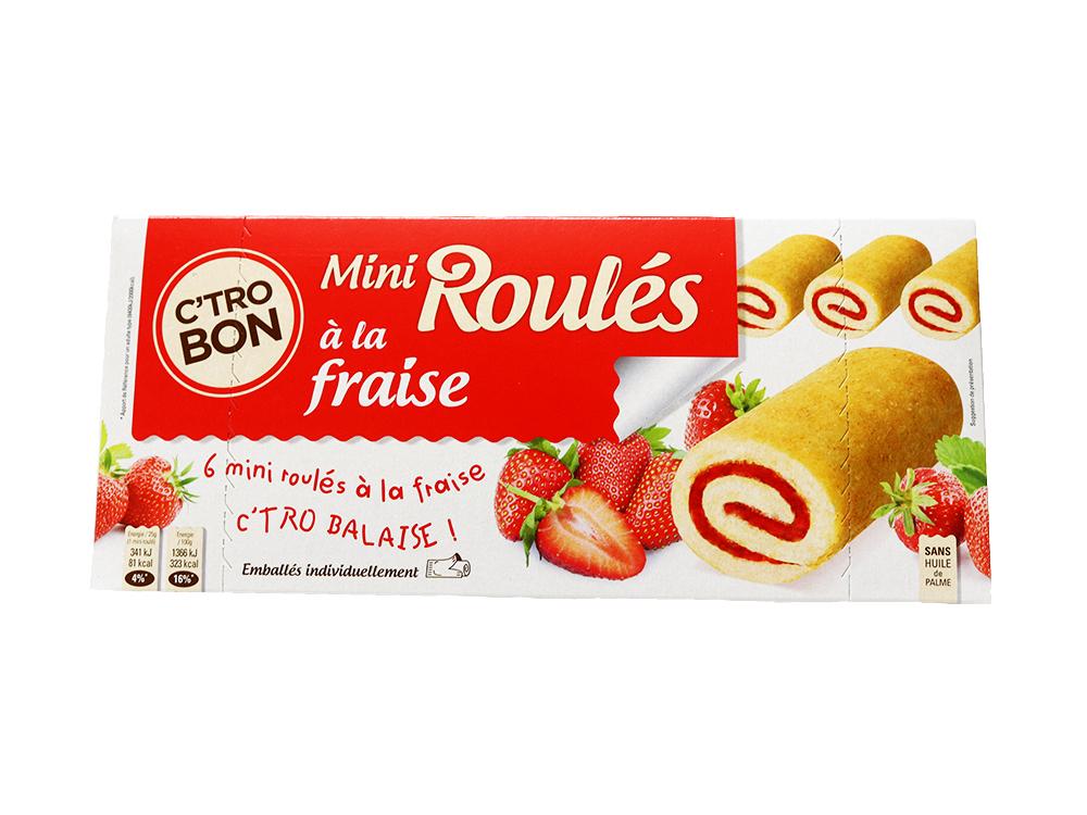 Mini roulés à la fraise