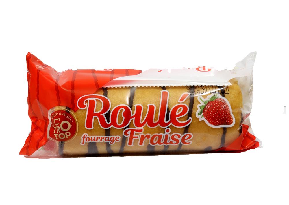 Roulé fourrage fraise