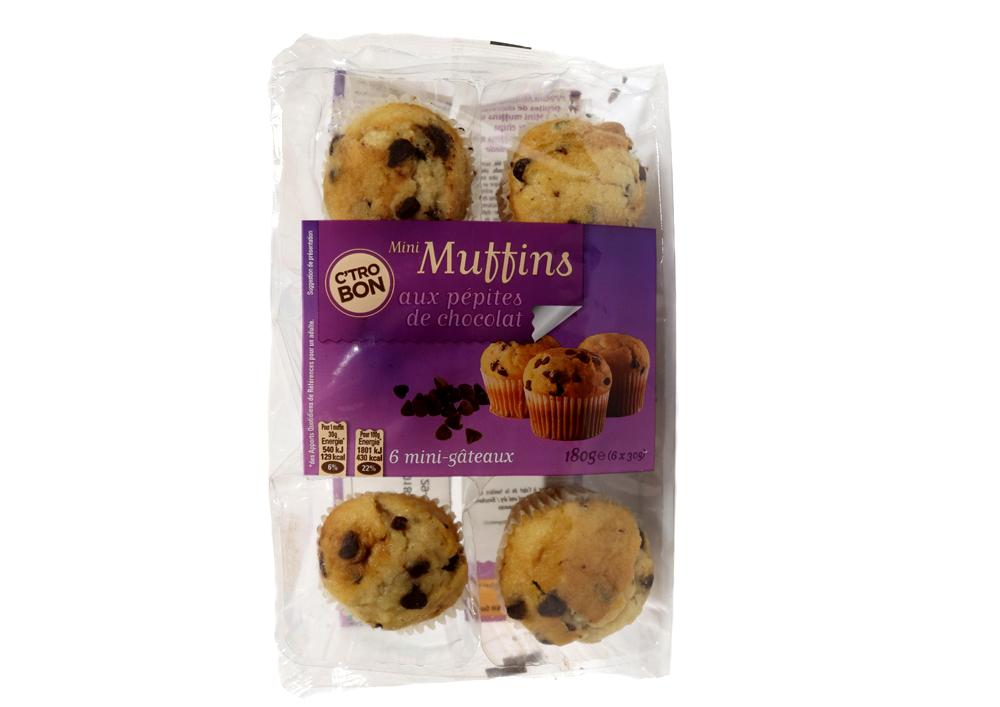 Mini muffins au pépites de chocolat