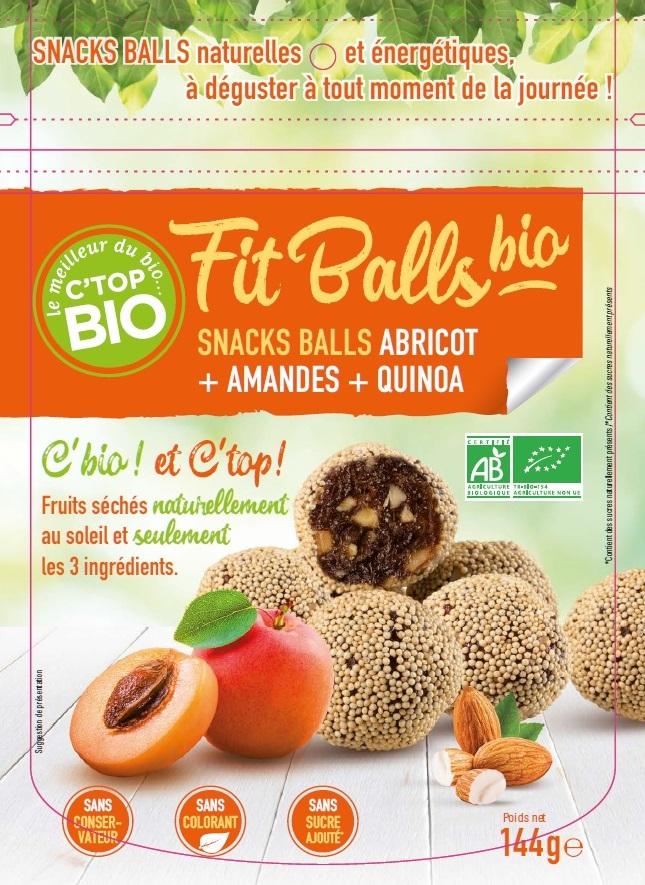 Fit balls bio abricot