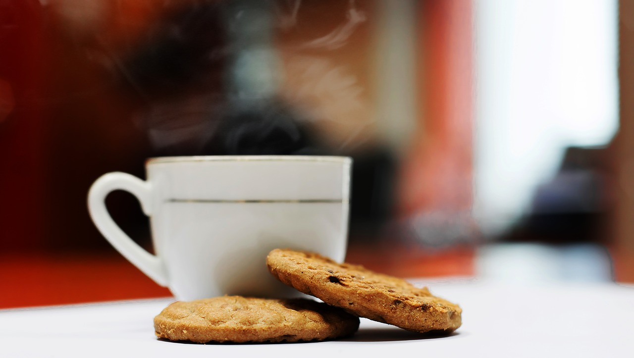 coffee with biscuits, biscuits, coffee and biscuits